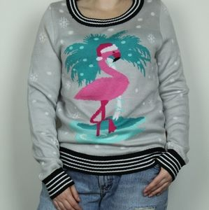 Tipsy Elves Flamingo Ugly Christmas Sweater